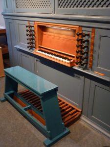Hervormde kerk Zwartsluis speeltafel orgel