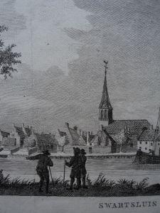 Zwartsluis kerk vanaf het water gezien