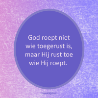 Kerkdienst 30 september: God roept je