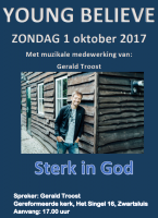 Young Believe dienst: Sterk in God! 1 oktober