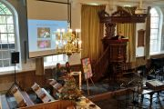 Presentatie over het collecte doel, door Iris Scholten en Nienke Wegerif.
